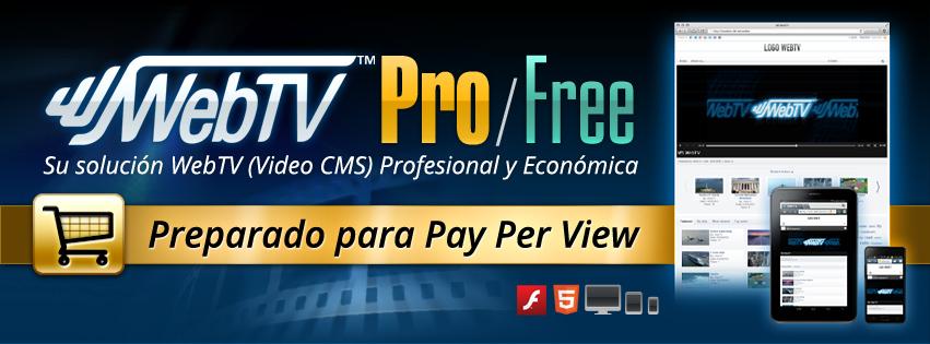 >WebTV Solutions lanza WS.WebTV Professional 1.4, preparado para Pay Per View