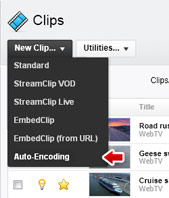 Create auto-encoding clip