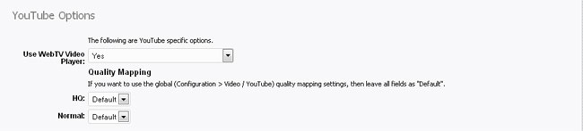 EmbedClip: YouTube options