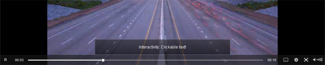 Clip Interactivity sample: text