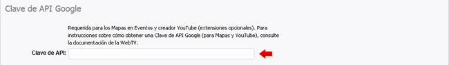 Introduciendo la Clave de API Google