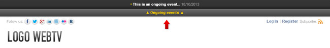 Example of ongogin event notification