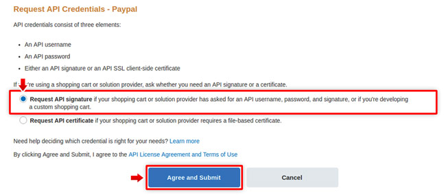 PayPal: API Access, Request API Credentials