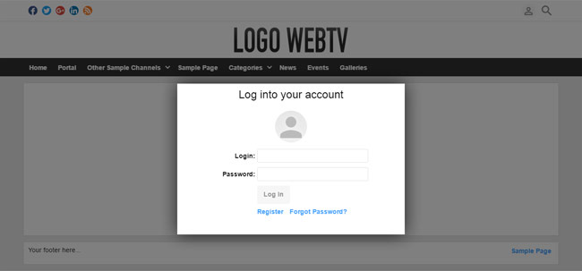 Front-End User Features: Login